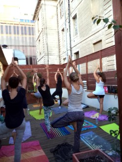 Yoga at the rooftop