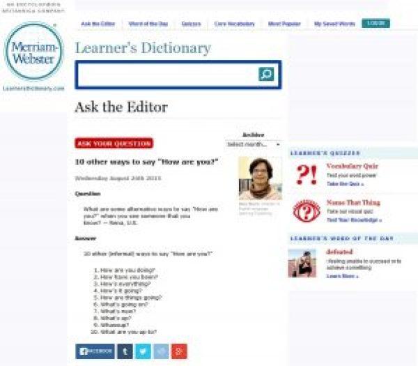Capture écran de Ask the Editor