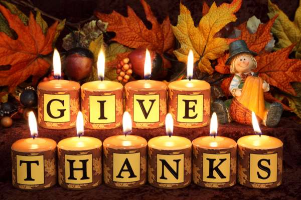 pic give thanks candles