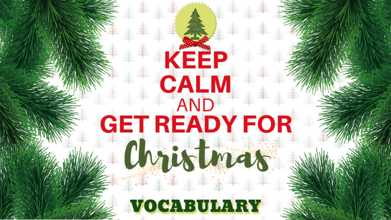 améliorer son anglais avec 24 mots de vocabulaire anglais courant et sur Noël
