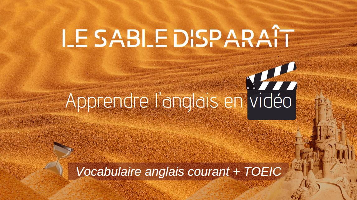🏝️ Apprendre l'anglais en vidéo : le sable disparaît ! ⌛