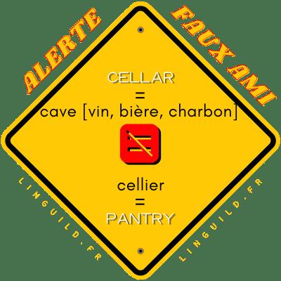 Fiche faux amis cellar/cellier