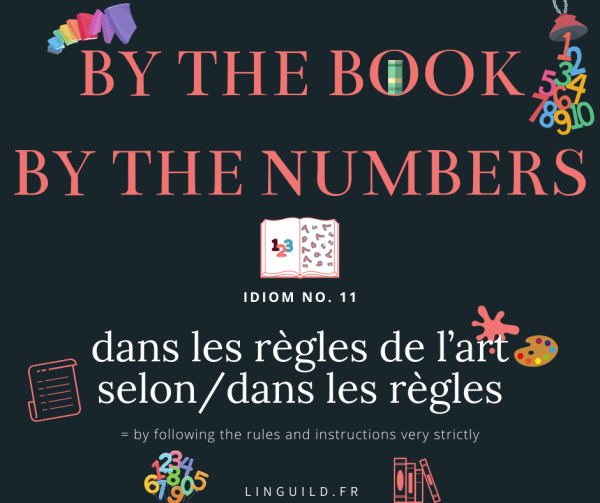 Fiche Idioms 11 : by the book, by the numbers