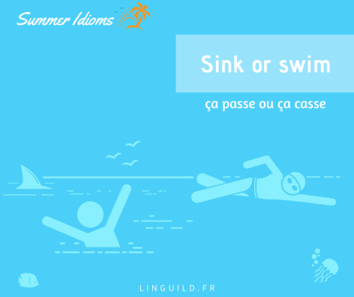 expression anglaise courante : sink or swim