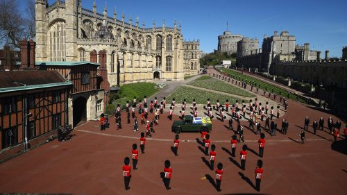 Picture of Prince Philip's funerals at Windsor Catsle
