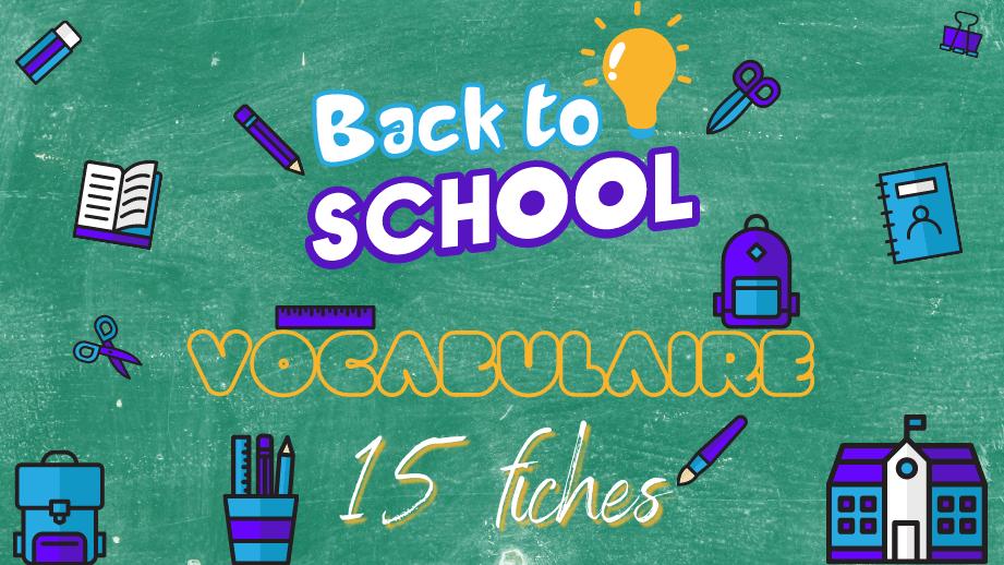 🎒 Vocabulaire anglais de l'école : les fournitures scolaires (partie 2) ✏️