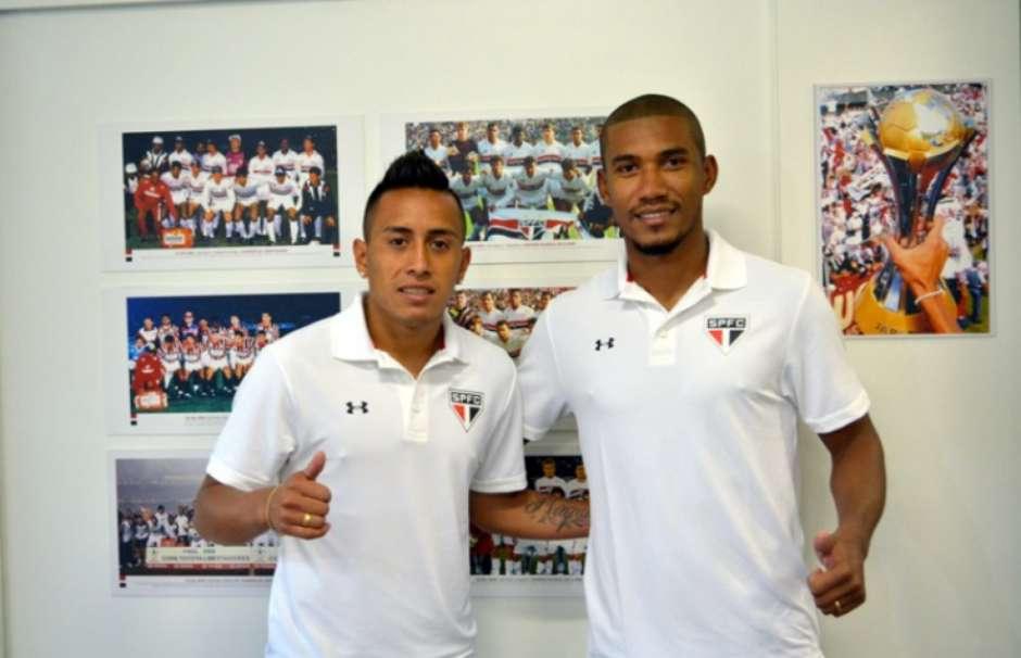 Getterson foi apresentado junto com Cueva no Sâo Paulo. Não durou nem seis horas no Tricolor Paulista
