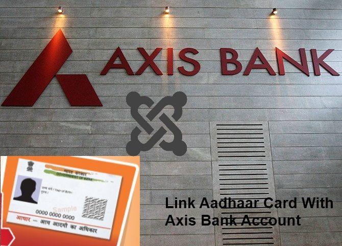 Link Aadhaar Card (UID) with Axis Bank Account - on