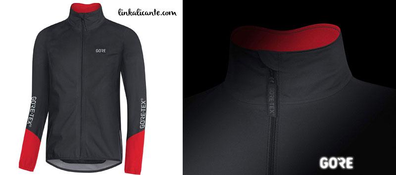 chaqueta ciclismo impermeable gore