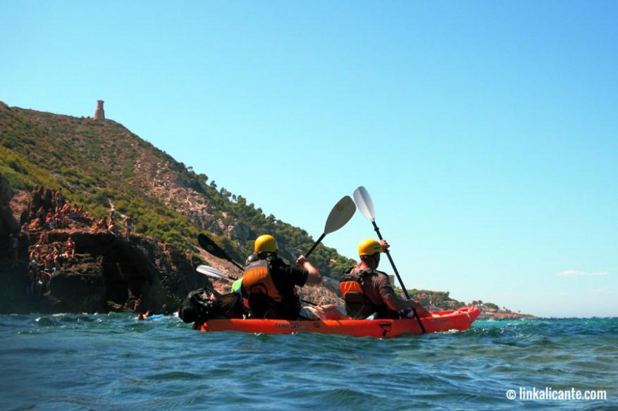 Kayak en la Cova Tallada - Dénia