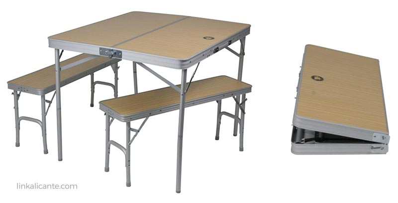 mesa bancos silla camping acampada
