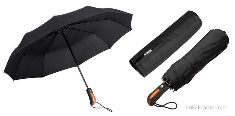 paraguas plegable anti-viento