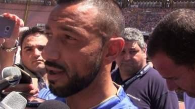 Fabio Quagliarella al San Paolo (foto Repubblica)