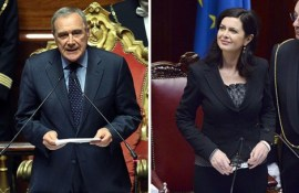 Piero Grasso Laura Boldrini