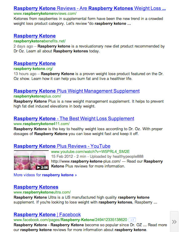 Raspberry Ketones Diet Recommended By Dr Oz Starts A Spam War High Quality Link Building Services Social Media Marketing