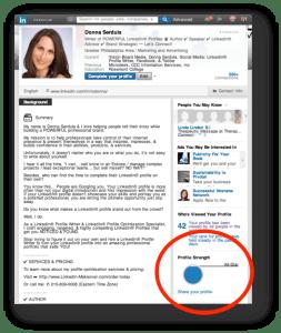 LinkedIn Profile Strength Meter