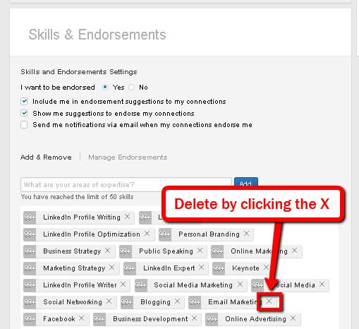 How to Delete LinkedIn Skills