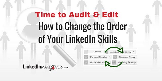 Change the Order of My LinkedIn Skills