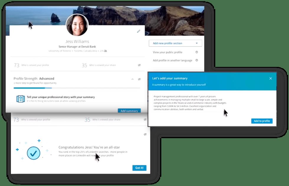 LinkedIn Redesign, The New LinkedIn Profile