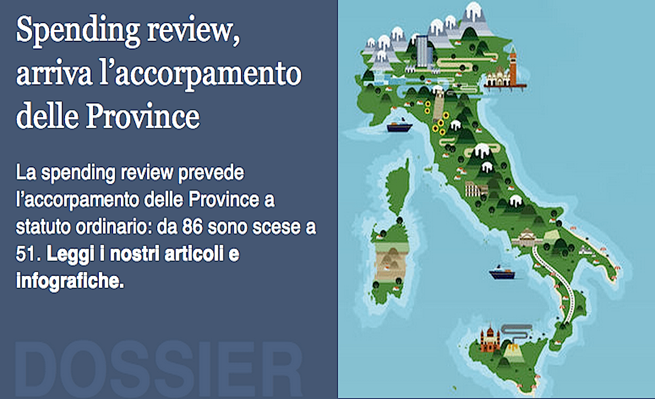 Tagliate le province, il governo cambia l'Italia ...