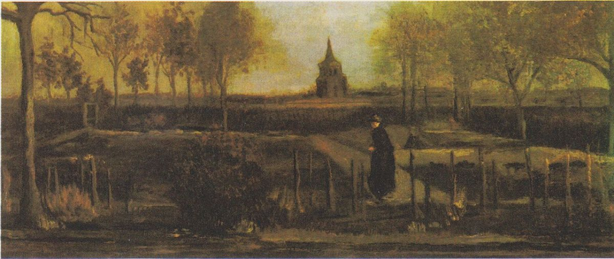 Giardino della canonica a Nuenen in primavera