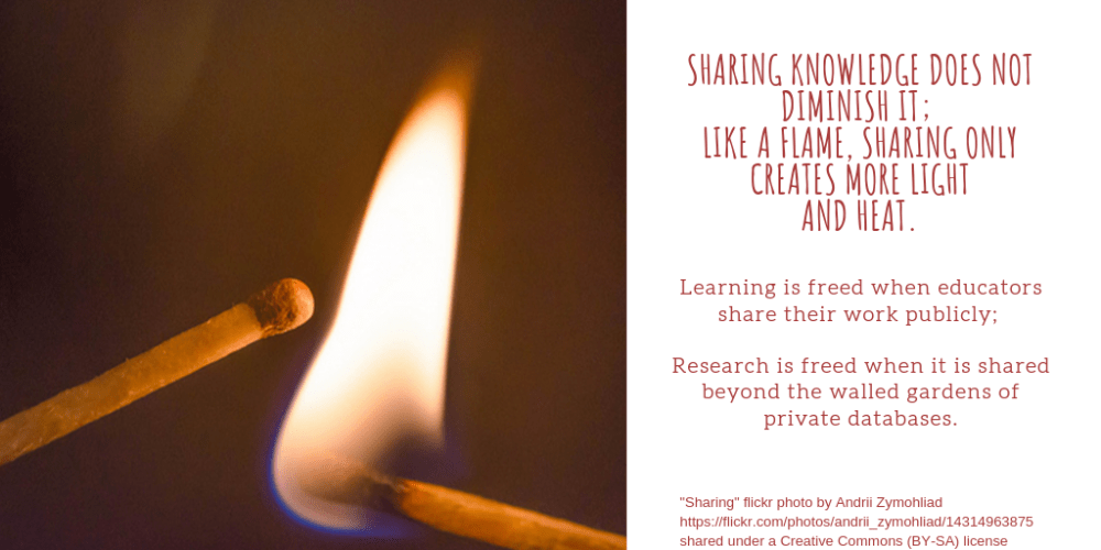 Sharing knowledge does not diminish it; like a flame, sharing only creates more light and heat.