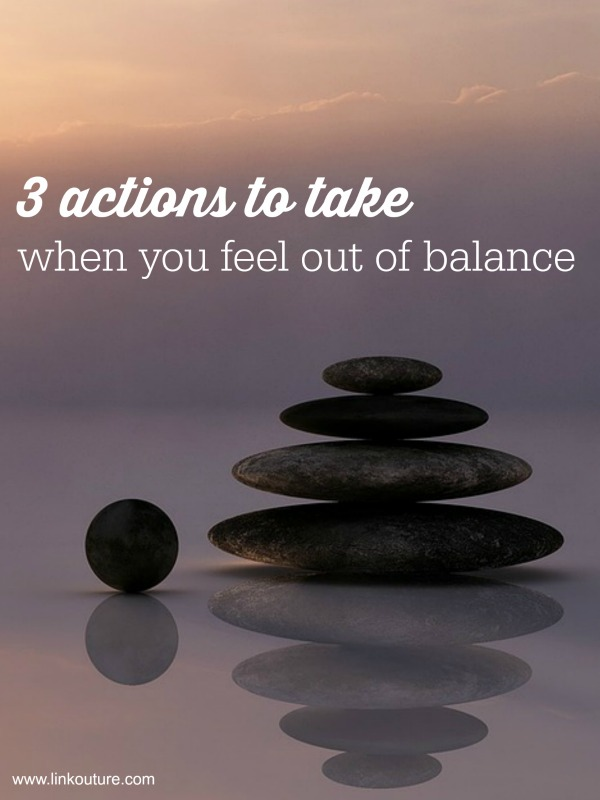 Are you feeling out of balance with your small business? Here are 3 simple actions you can take to make you feel more balanced