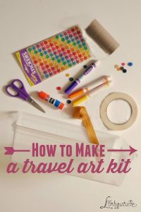 how to make a travel art kit