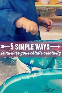 Creativity is so much more than diy projects or crafts. As a parent, you can help nurture your chlild's creativity with these five tips that are incredibly easy to implement.