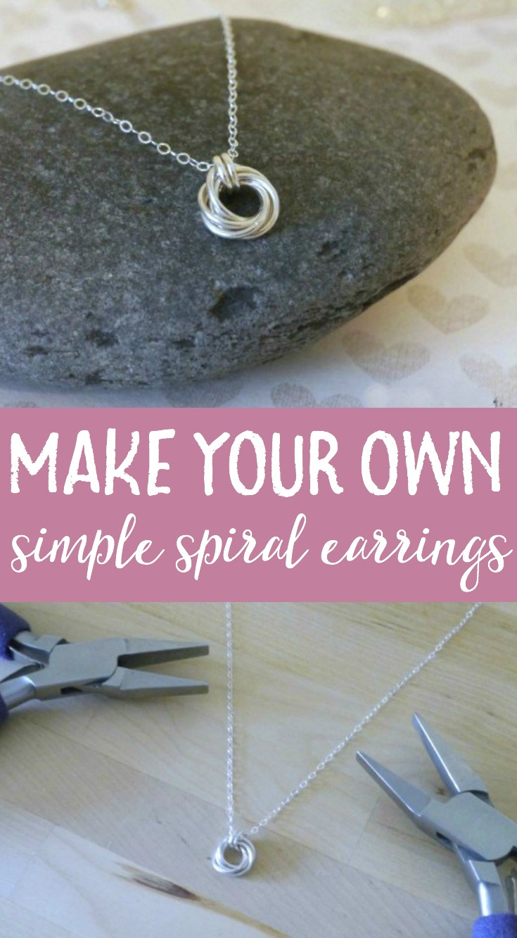 This DIY spiral pendant necklace jewelry tutorial is incredibly easy to make. It makes for a wonderful gift idea for Mother's Day or a special treat for yourself!