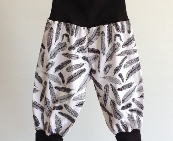 Black Feather Toddler Pants by Two Black Rabbits