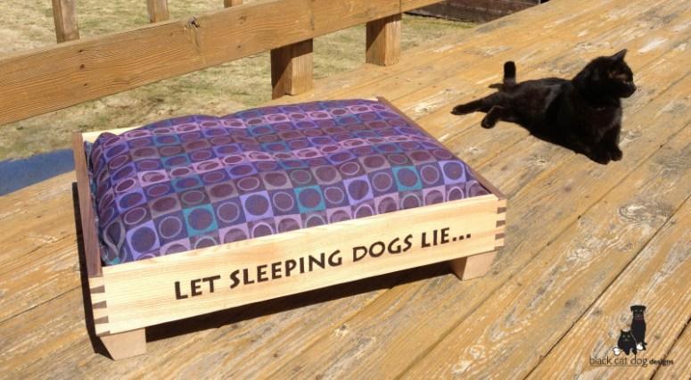 Bev Levreault of Black Cat Dog Designs makes stunning handcrafted beds for your favorite 4-legged friend.