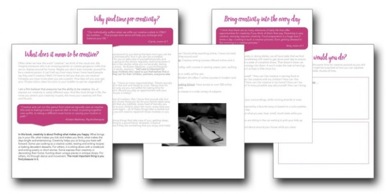 sample page of The Busy Mom's Guide to Creativity