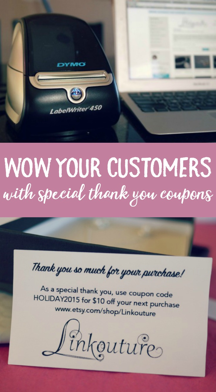 How to make beautiful thank you coupons for your small business