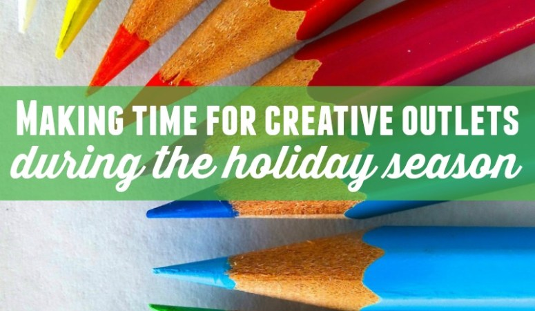 Relieve some of the stress of the holiday season and make time for the creative activities you love with these three tips!