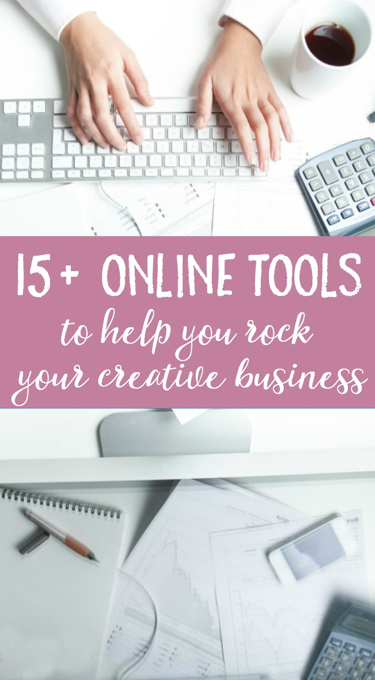 """Are you a creative business looking to start or grow your business? These 15+ tools for your small online business, many of which are free or low-cost to use, will help you to build a website, sell your products, and stay organized!"