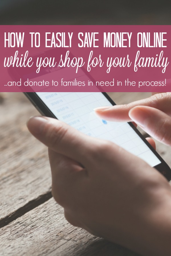 With the click of a button you can easily save money for the things your family needs and donate a meal to a family in need. #ad