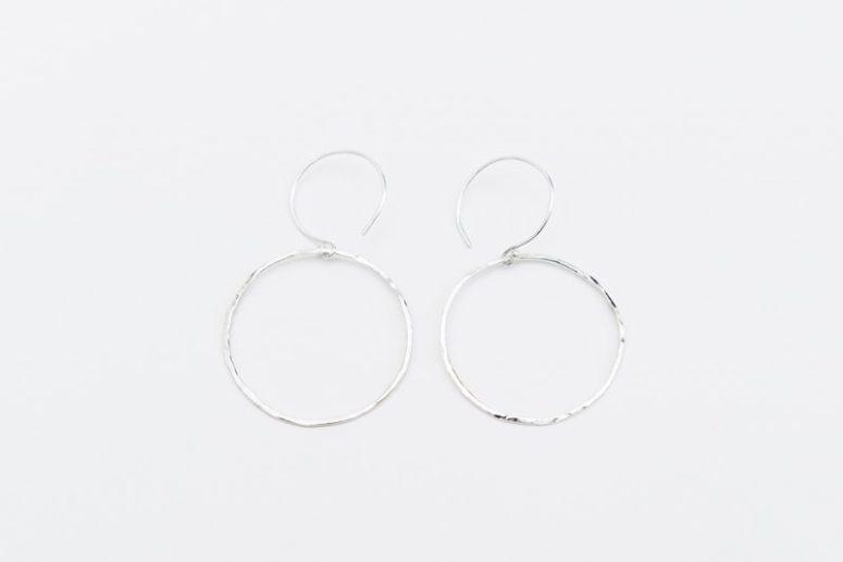 Linkouture sterling silver minimalist earrings