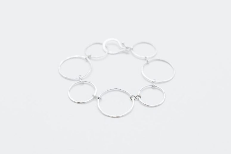Sterling silver hammered bracelet by Linkouture