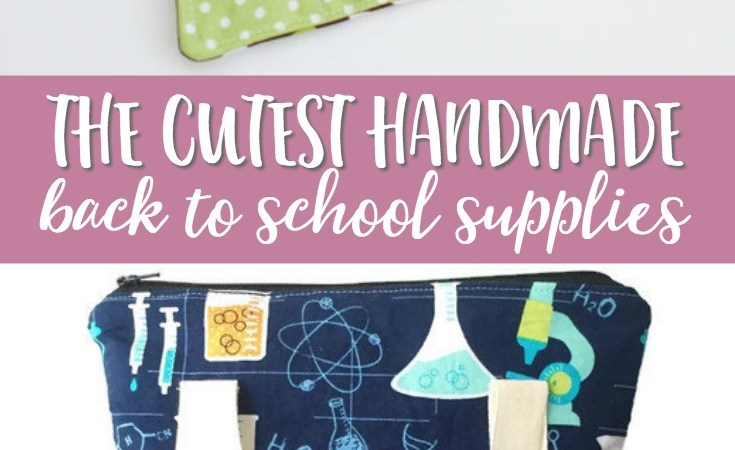 Looking for some cute new back to school supplies? These handmade Etsy finds are more special than what you'll find at the big box stores!