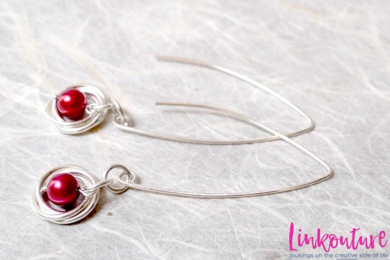 pink frreshwater pearl dangle earrings