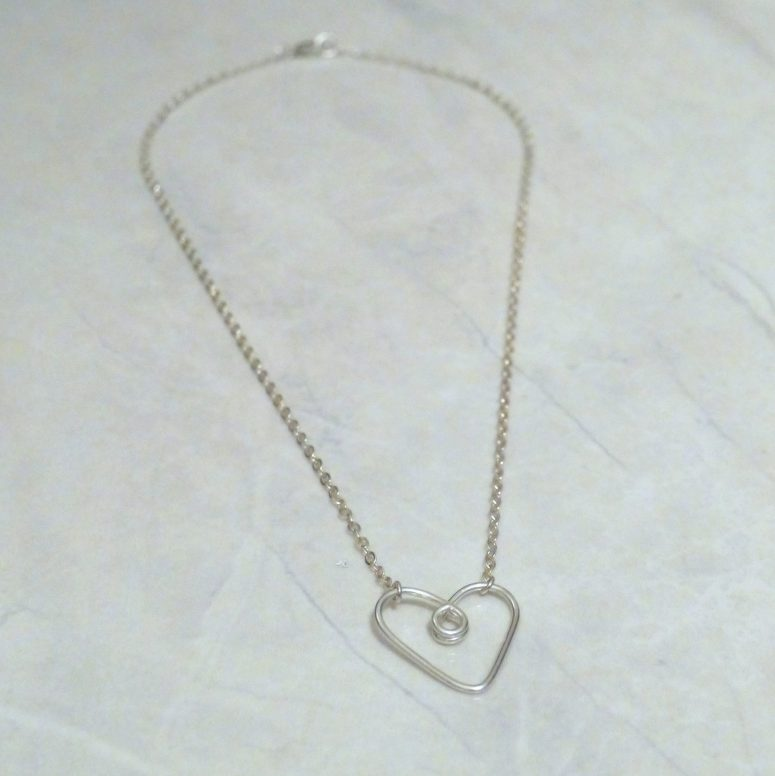 Learn how to make a heart charm necklace