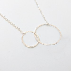 Interlocking hammered necklaces