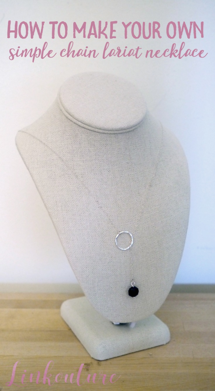 Learn how to make a simple chain lariat necklace with these easy DIY tutorial