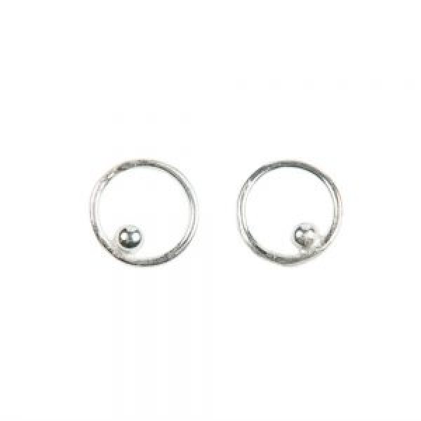Sterling silver eco-friendly circle post earrings