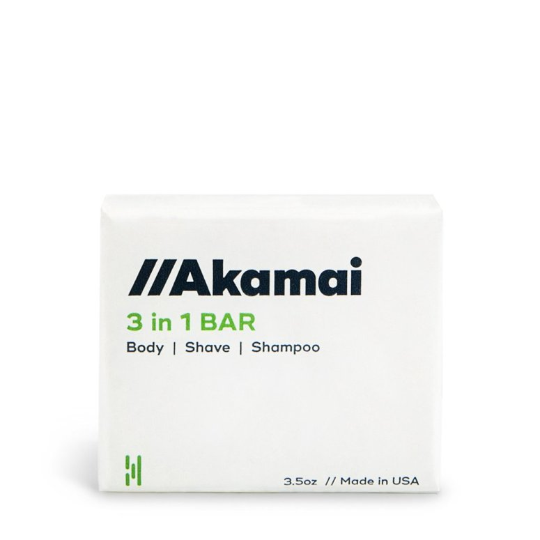 With 3-in-1 personal care bar by Akamai, you've got a shampoo bar, body wash, and shave cream all wrapped up in one natural bar!