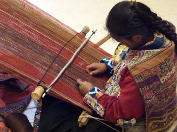 Cusco Peru native weaving