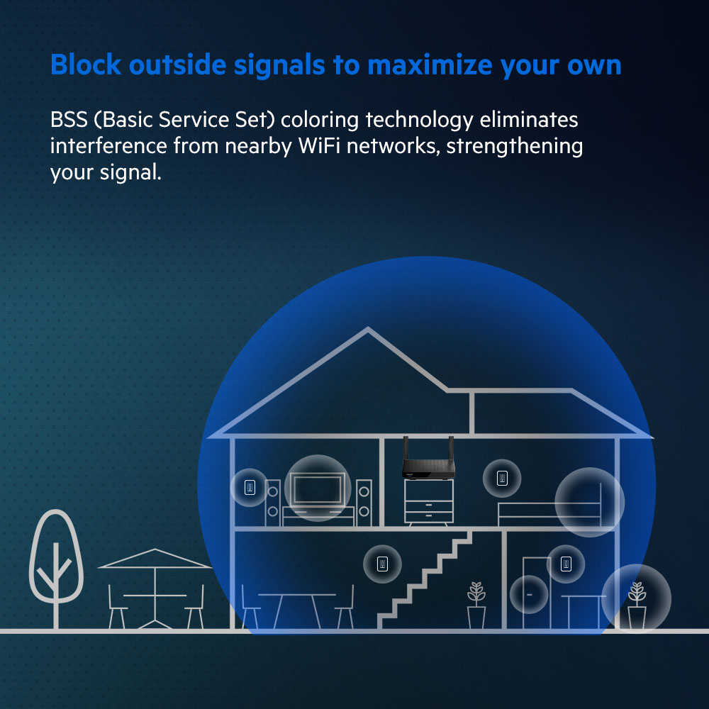Block outside signals to maximize your own - BSS (Basic Service Set) demonstration