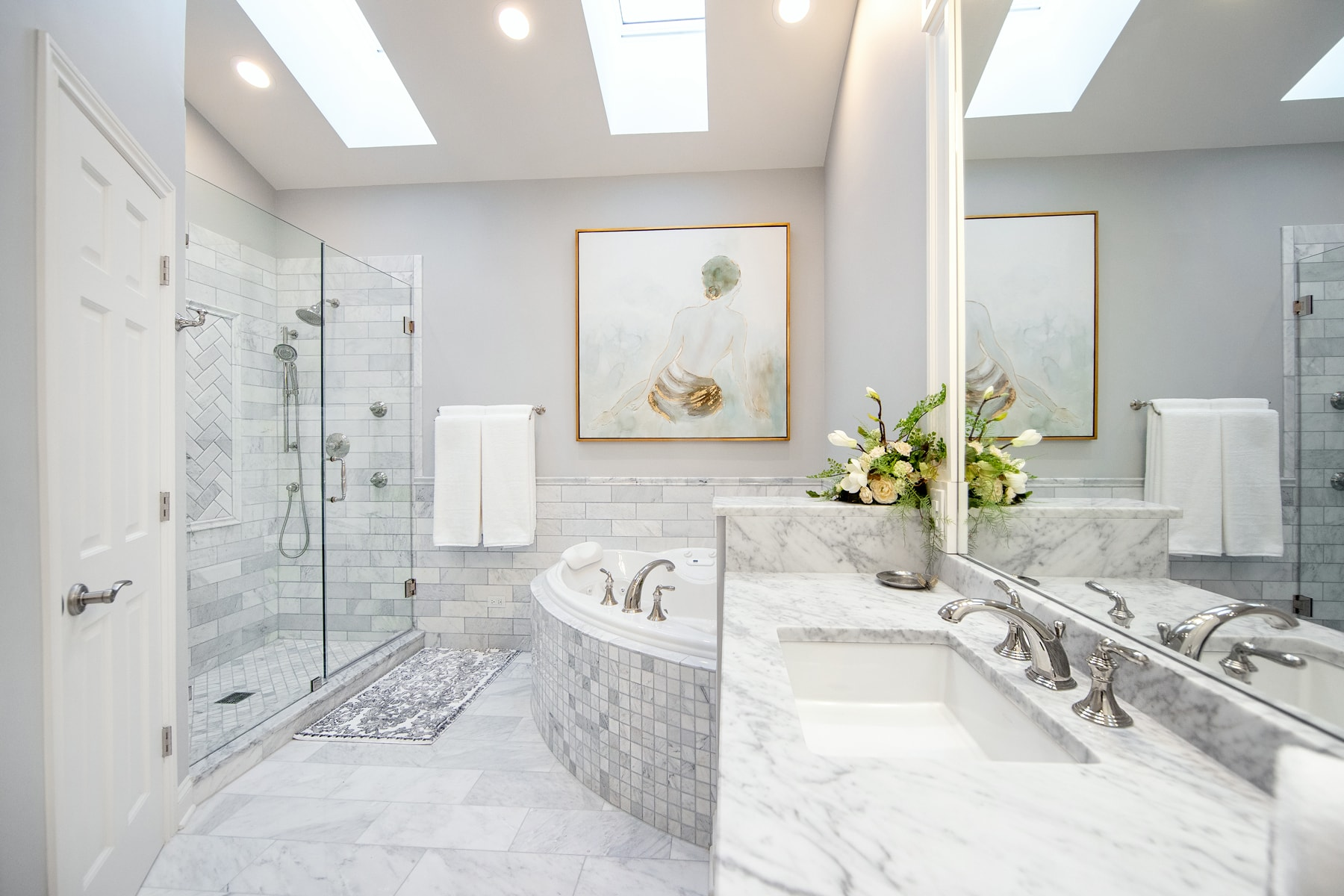 Luxurious Master Bathroom Remodel - Linly Designs on Restroom Renovation  id=38792