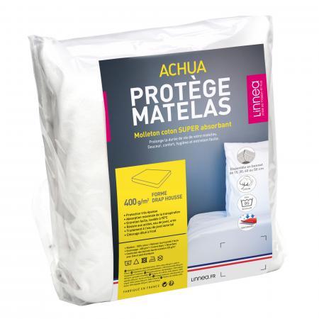 protege matelas 60x120 cm achua molleton 100 coton 400 g m2 bonnet 15cm